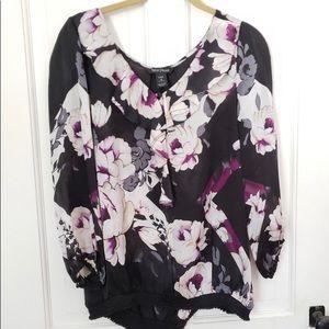 100% silk. White House Black Market blouse. Size L